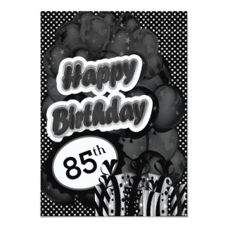 "85th Milestone Birthday 5"" X 7"" Invitation Card"