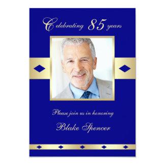 85th Photo Birthday Party Invitation Navy 85