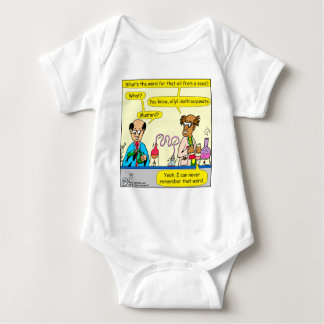860 mustard oil cartoon baby bodysuit