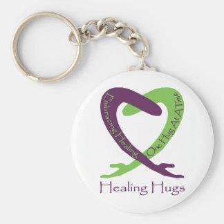 8621_Healing_Hugs_logo_8.31.11_test-2 Basic Round Button Keychain