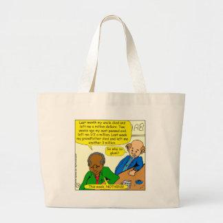 864 why so glum cartoon large tote bag