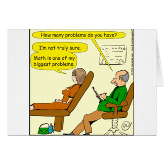 865 how many problems do you have - CARTOON Card
