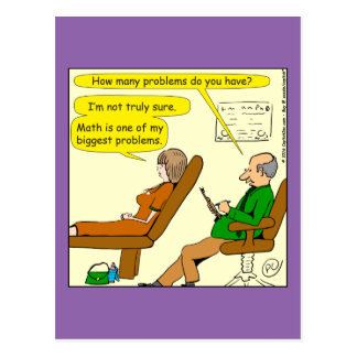 865 how many problems do you have - CARTOON Postcard