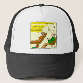 865 how many problems do you have - CARTOON Trucker Hat