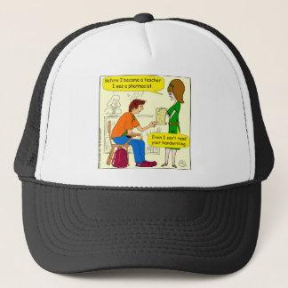 866 handwriting cartoon trucker hat