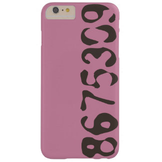 8675309 Phone Case Pink With Black Numbers - FUN