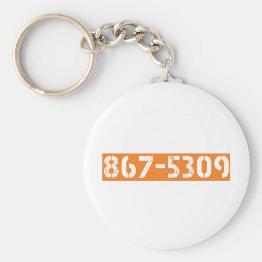 867-5309 KEY CHAINS