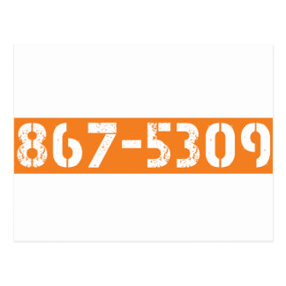 867-5309 POSTCARD