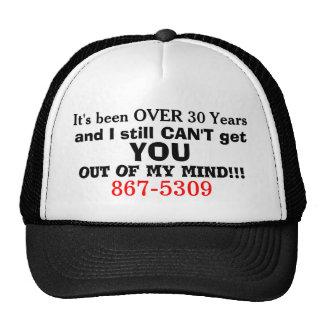 867-5309 Retro 80s Phone Humor Hat