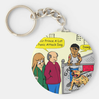 867 panic attack dog cartoon basic round button keychain