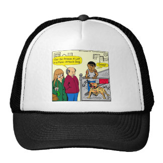 867 panic attack dog cartoon trucker hat