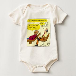869 honorary liquor license cartoon baby bodysuit