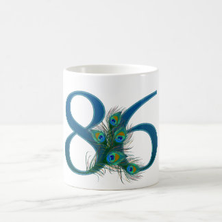 86 / 86th birthday number basic white mug