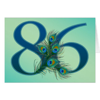 86 / 86th birthday number greeting card