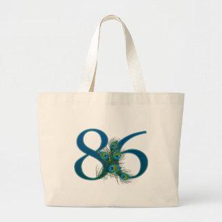 86 / 86th birthday number jumbo tote bag