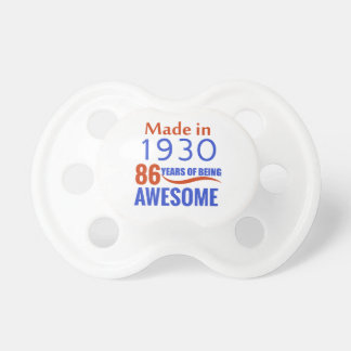 86 birthday design baby pacifiers