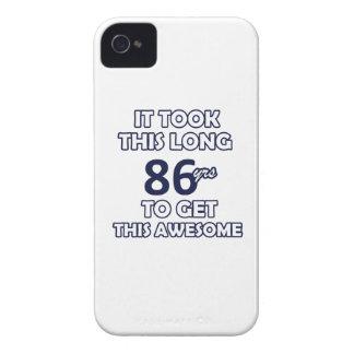 86 birthday design Case-Mate iPhone 4 cases