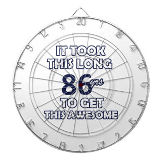 86 birthday design dartboard