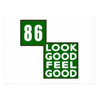86 Look Good Feel Good Postcard
