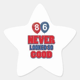 86 looks good star sticker