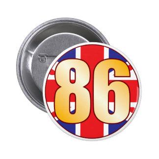 86 UK Gold 2 Inch Round Button