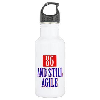 86 years birthday designs 18oz water bottle