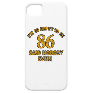 86 years design iPhone 5 case