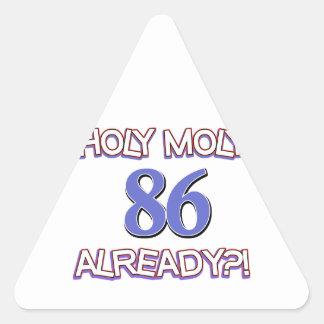 86 years design triangle sticker