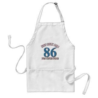 86th birthday designs adult apron