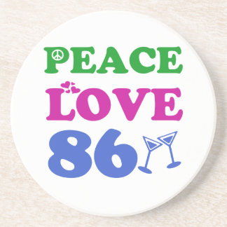 86th birthday designs beverage coaster