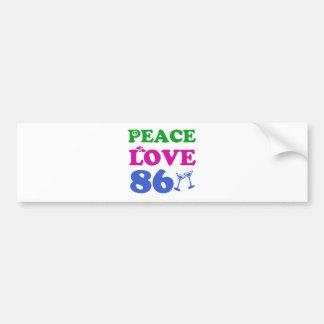 86th birthday designs car bumper sticker