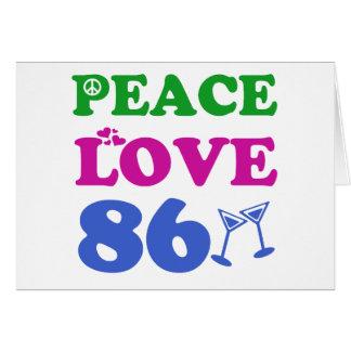 86th birthday designs card