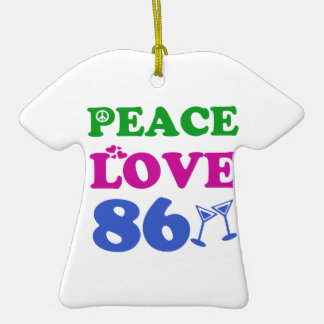86th birthday designs christmas ornament