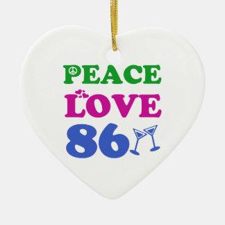 86th birthday designs christmas tree ornaments