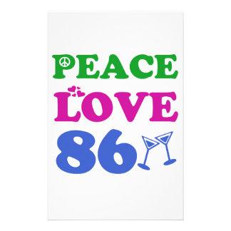 86th birthday designs customized stationery