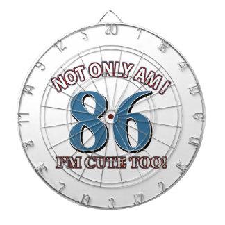 86th birthday designs dart boards