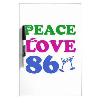86th birthday designs dry erase boards