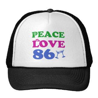 86th birthday designs trucker hat