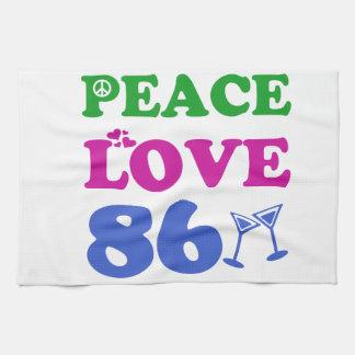 86th birthday designs kitchen towels