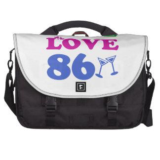 86th birthday designs laptop messenger bag