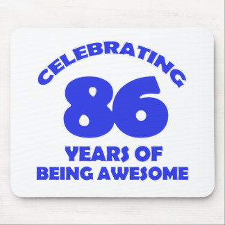 86TH birthday  designs Mouse Pad
