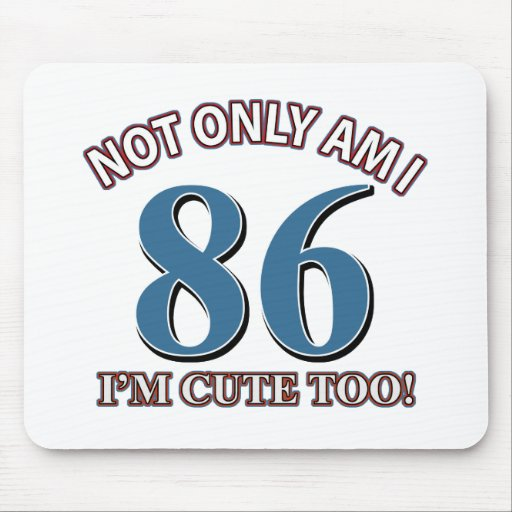 86th birthday designs mousepad
