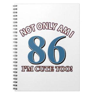 86th birthday designs note books