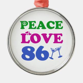 86th birthday designs ornament