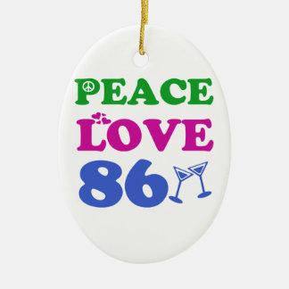 86th birthday designs ornaments
