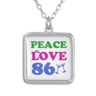 86th birthday designs personalized necklace