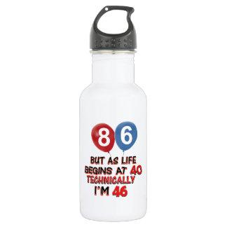 86th birthday designs 18oz water bottle