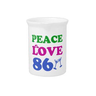 86th birthday designs pitcher