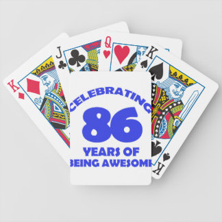 86TH birthday  designs Bicycle Playing Cards