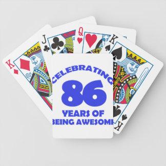 86TH birthday  designs Poker Deck